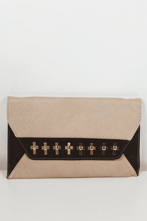 Contrast Clutch with Metal Detail