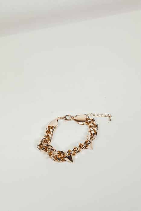 Chain Link Metal Bracelet with Spikes