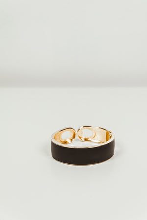 Interlocking Black & Gold Bracelet