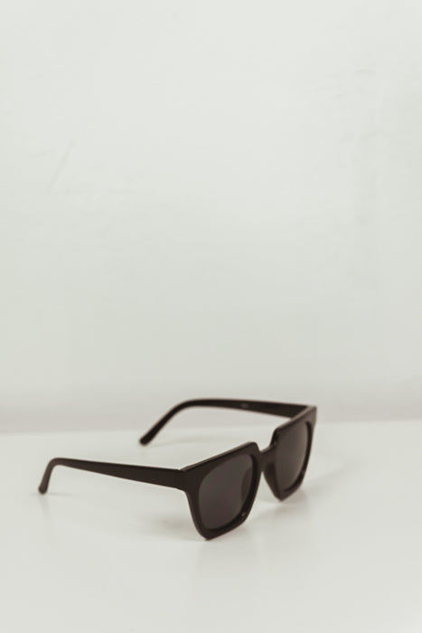Rectangular Frame Sunglasses - Black