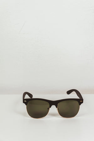 Vintage Frame Sunglasses - Black