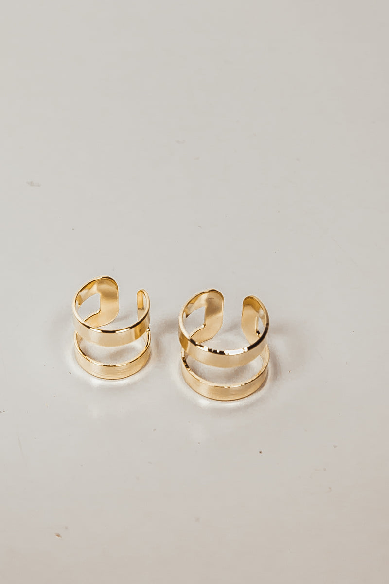 DUAL CUTOUT PLATED RINGS - Gold - Haute & Rebellious