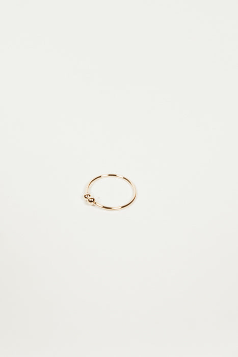 Petite Ball Connect Ring - Gold