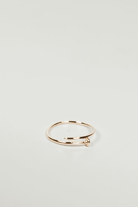 PETITE HAMMER THE NAIL RING - Gold - Haute & Rebellious