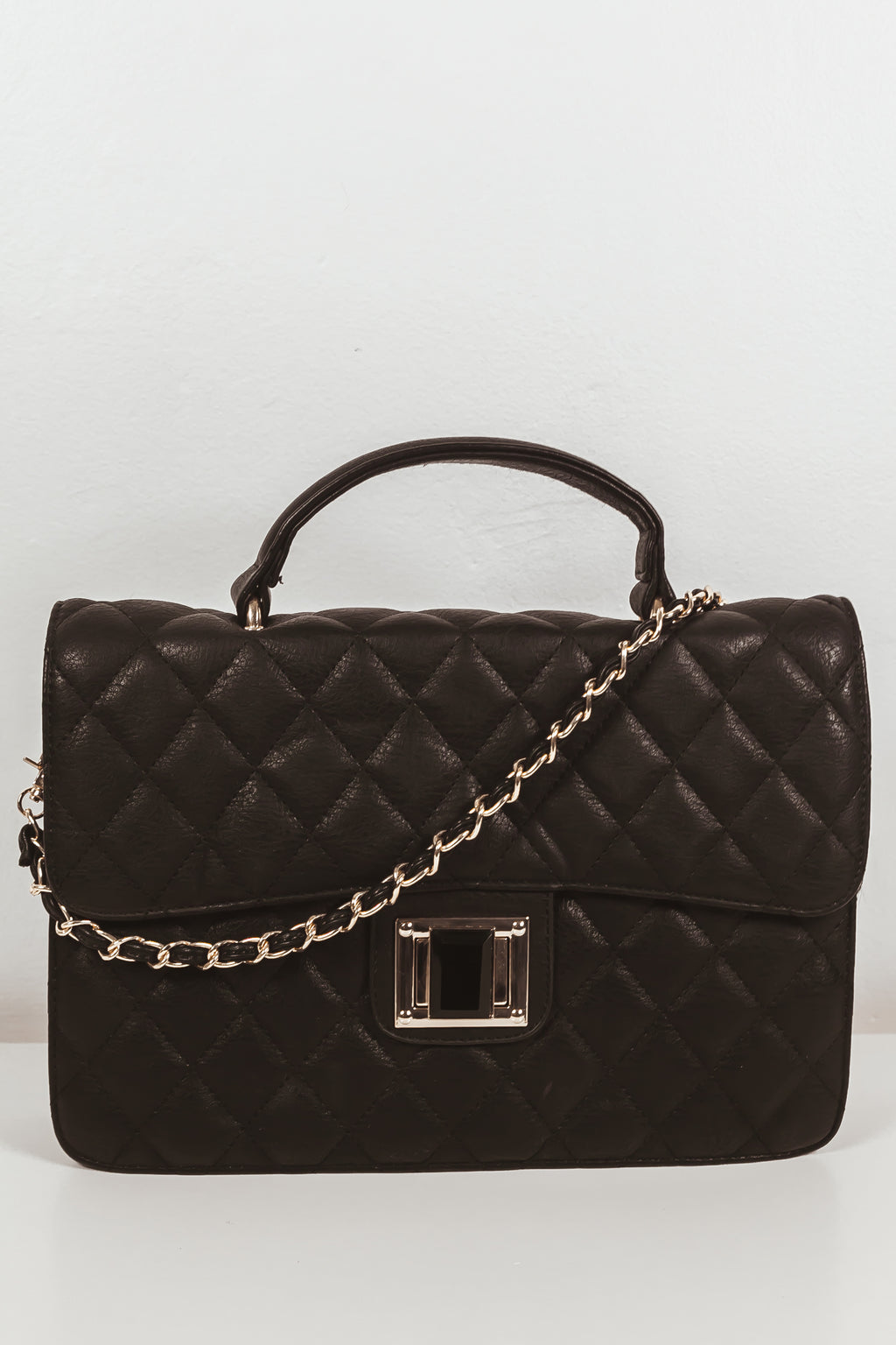 Quilted Flap Medium Bag
