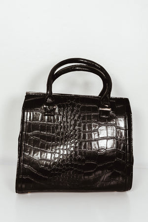 Alligator Medium Handle Bag