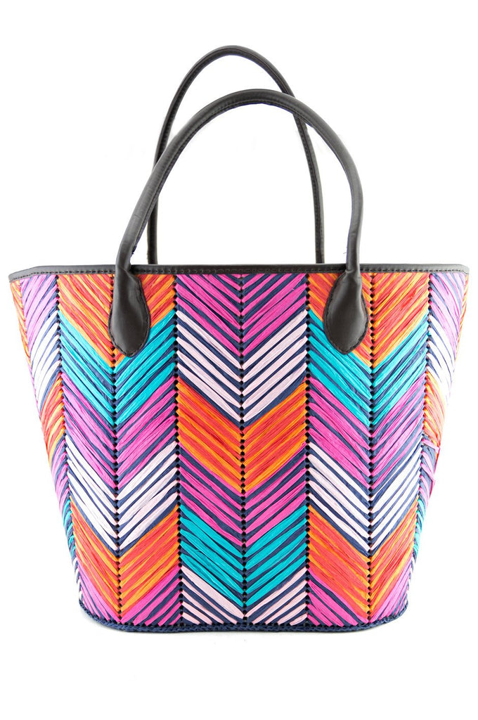 ENYA LARGE STRAW BEACH TOTE - Haute & Rebellious