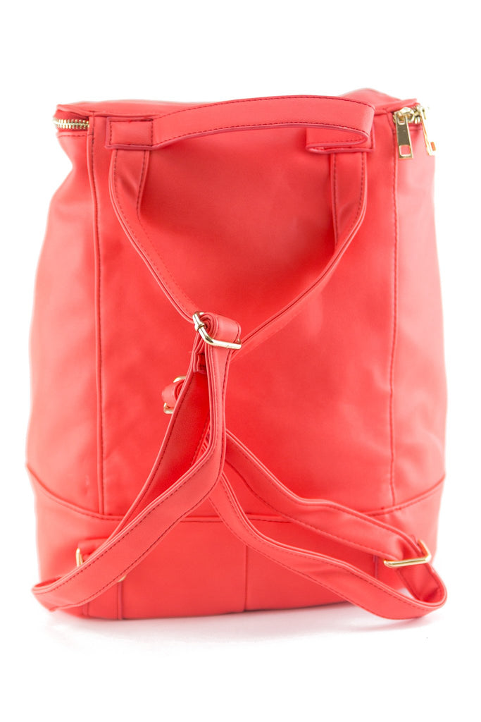 MODA TOP ZIP BACKPACK - MORANGE