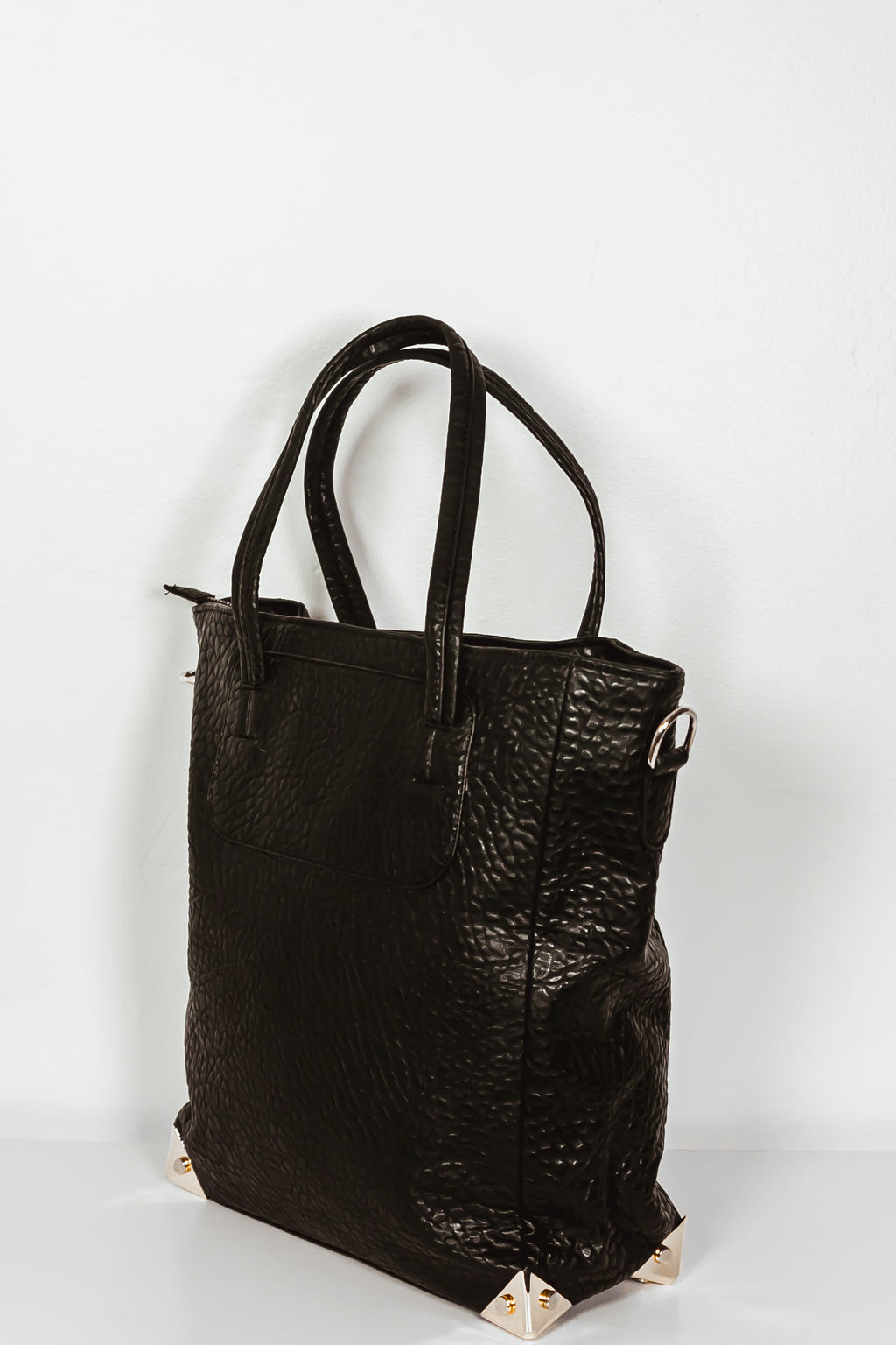 Slim Tote Medium Bag - Black