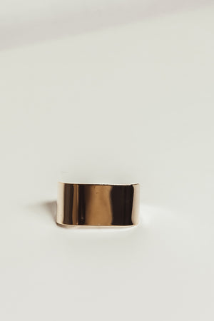 Gold Plated Two-Finger Ring