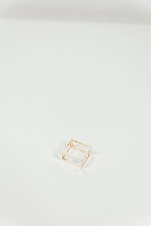 Metal Hollow Box Ring