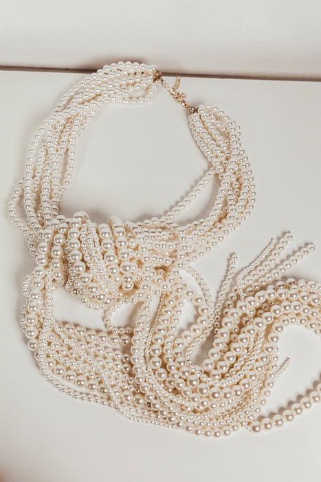 Knot Draping Pearl Necklace - Haute & Rebellious
