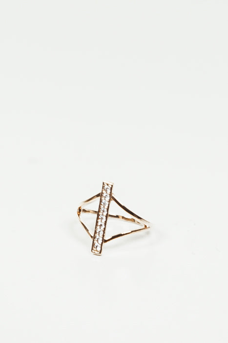 Petite Crystal Bar Ring