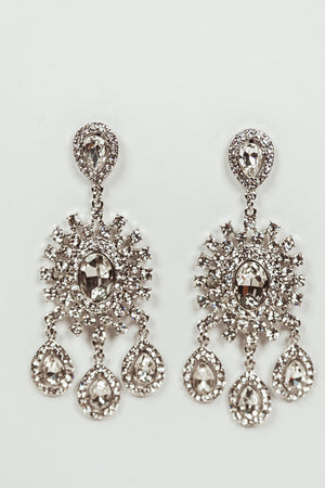 Elegant Draped Crystal Earring