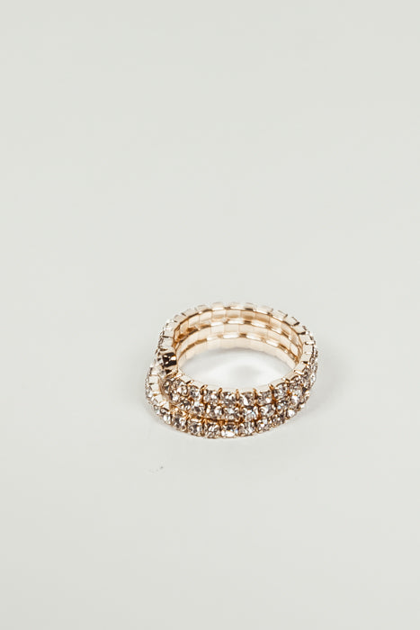 Spiral Wrap Diamond Ring - Gold