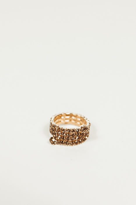 Spiral Wrap Diamond Ring - Yellow Gold