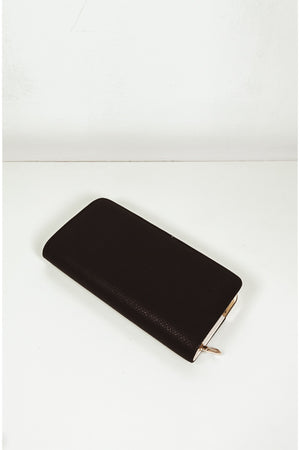Snakeskin Wallet with Gold Trim - Black