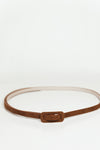 Thin Suede Belt - Camel