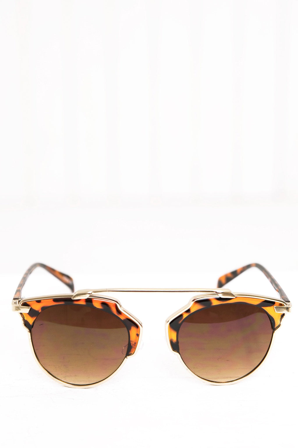 Alise Aviator Shades - Brown/Gold - Haute & Rebellious