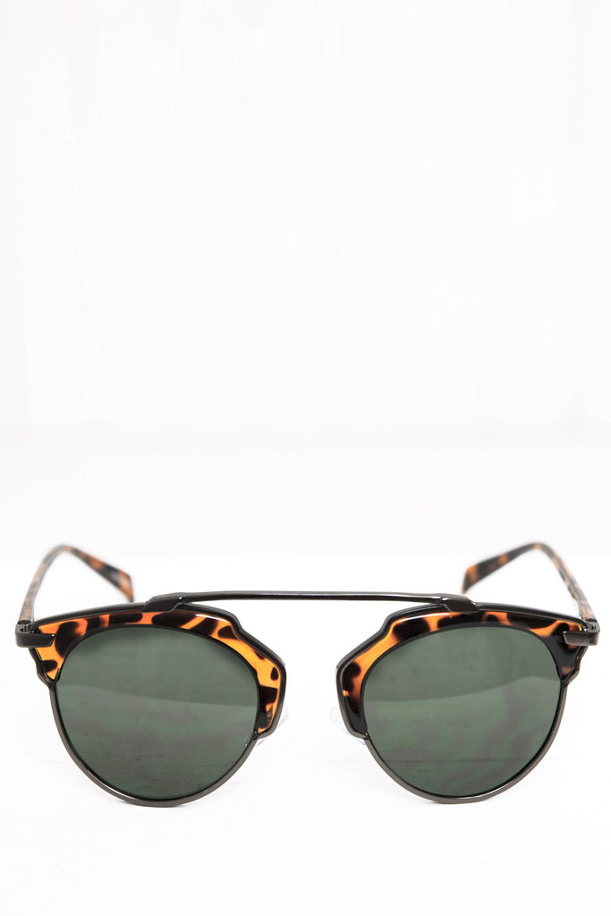 Alise Aviator Shades - Brown