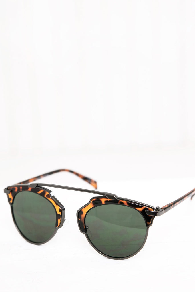 Alise Aviator Shades - Brown - Haute & Rebellious