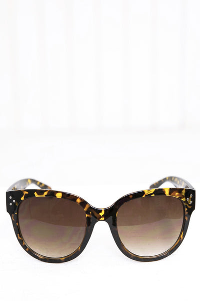 Audrey Round Sunglasses - Brown