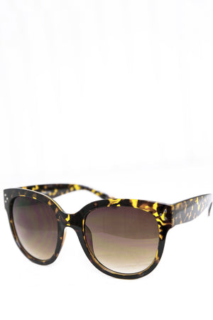 Audrey Round Sunglasses - Brown - Haute & Rebellious