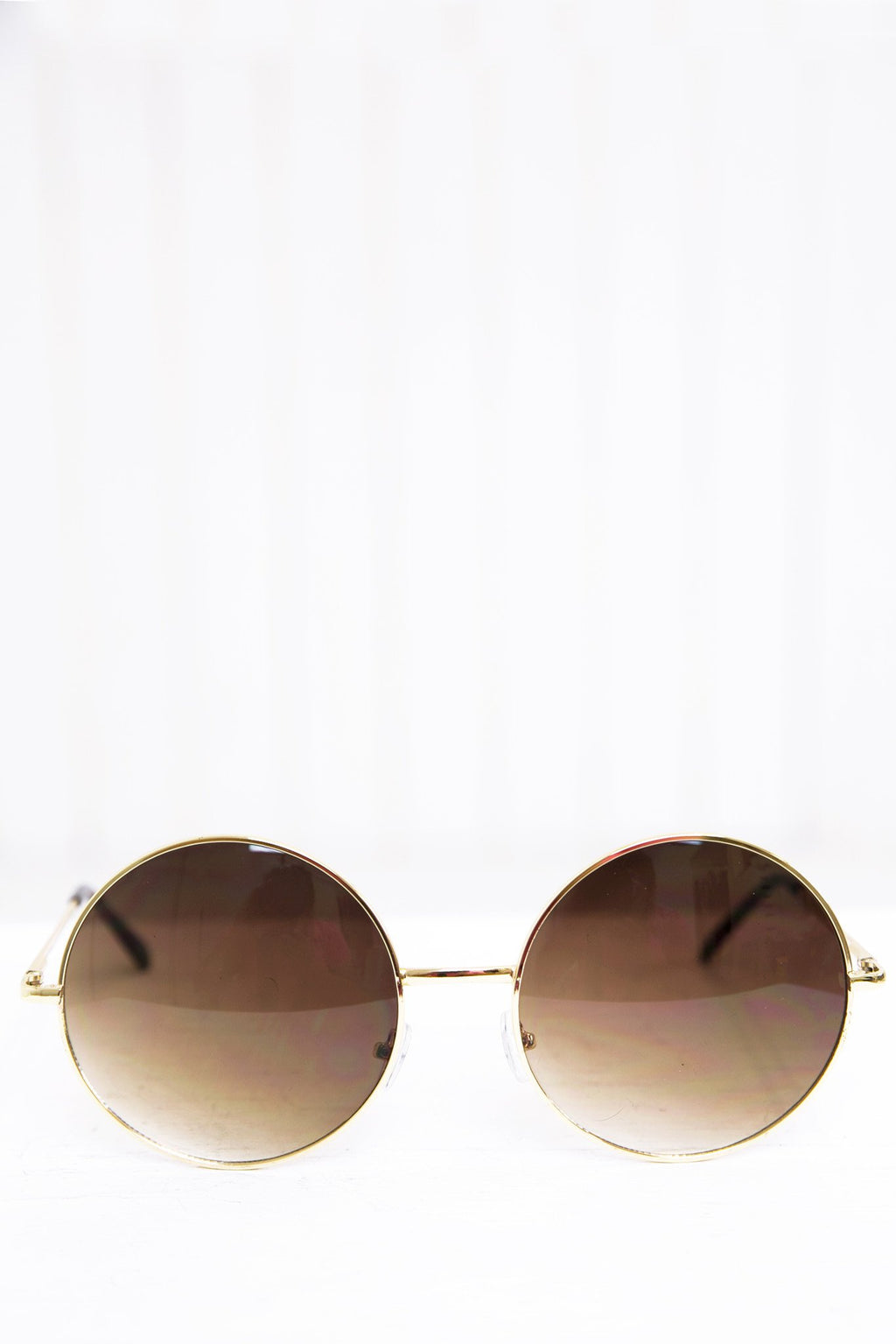 Farrah Round Sunglasses - Gold/Brown - Haute & Rebellious