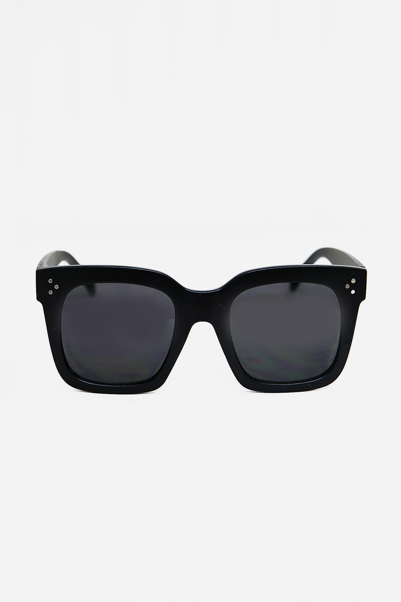 Faye Square Sunglasses - Matte Black - Haute & Rebellious