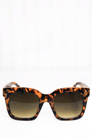 Faye Square Sunglasses - Brown - Haute & Rebellious