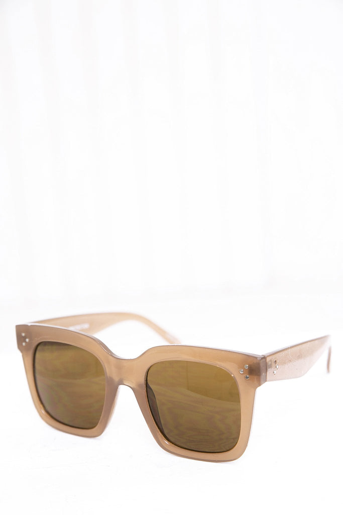 Faye Square Sunglasses - Taupe