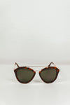 Janice Aviator Shades - Brown/Gold