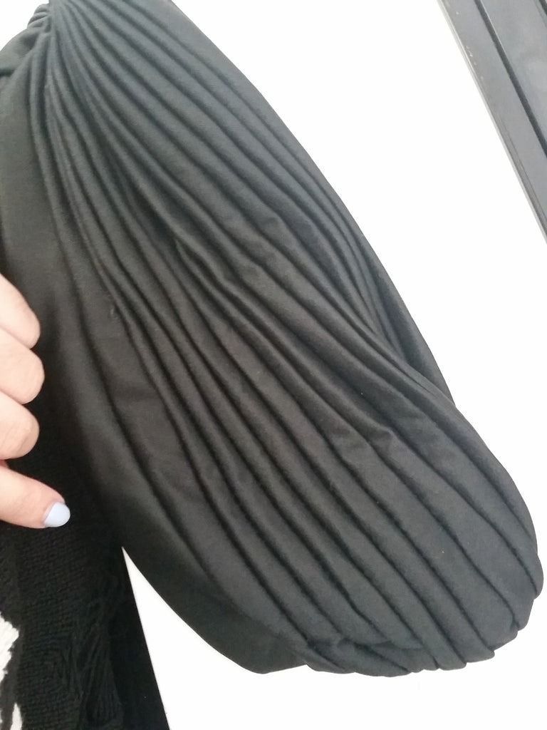Pleated Turban Hair Wrap