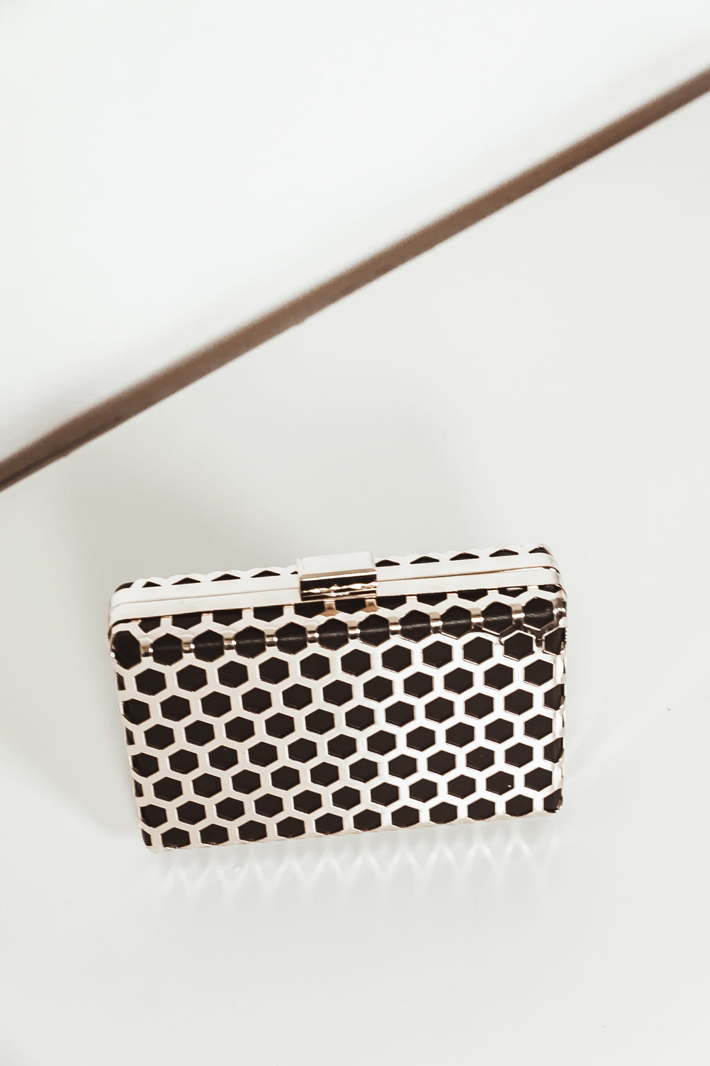 Gold Plated Solid Clutch
