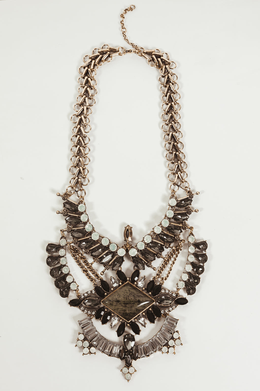 Statement Embellished Crystal Necklace