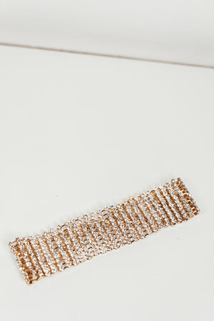 You and I Crystal Choker - Gold