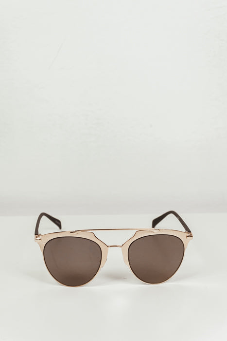 Skylar Reflective Sunglasses - Gold/Olive