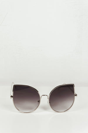 Half Way There Sunglasses - Silver/Blue