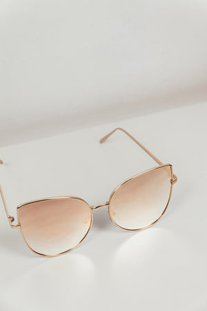 Can't Stop This Feeling Sunglasses - Gold/Blush