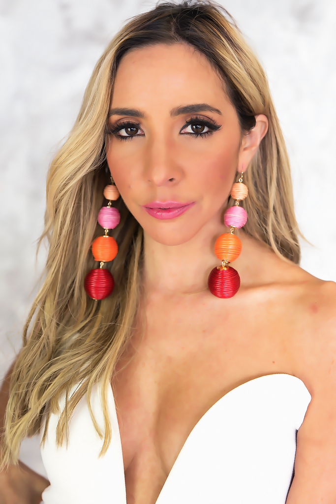 Statement Earring - Red