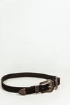 Double  Buckle Belt - Black/Dark