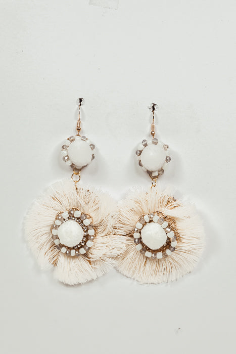 All of Me Fringe Earrings - Ivory - Haute & Rebellious
