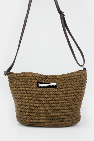 Straw Cutout Handle Bag - Haute & Rebellious