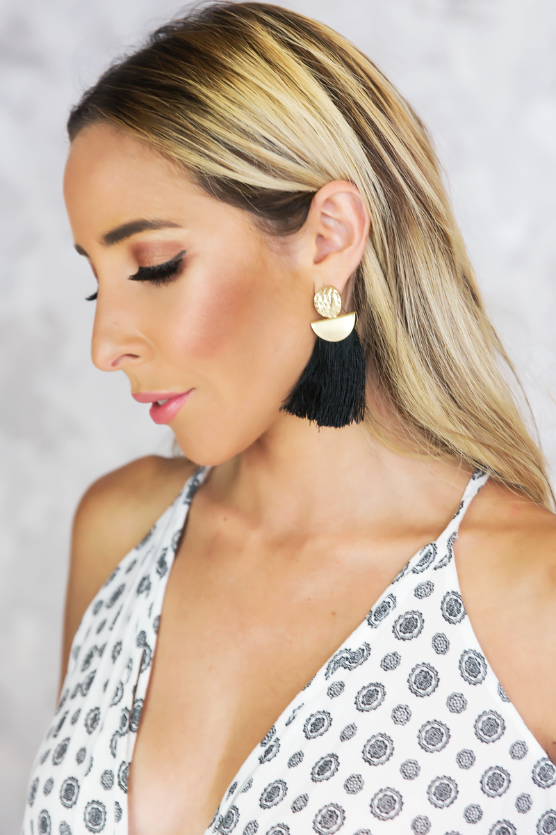 So Good Fringe Tassel Earring - Haute & Rebellious