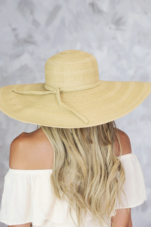 Large Floppy Brim Hat - Natural - Haute & Rebellious