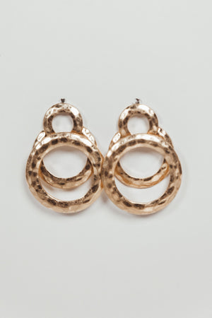 Gold Plated Overlapping Hoop Earring