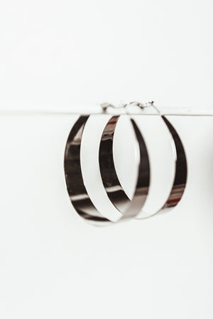 Silver Plated Hoop Earring