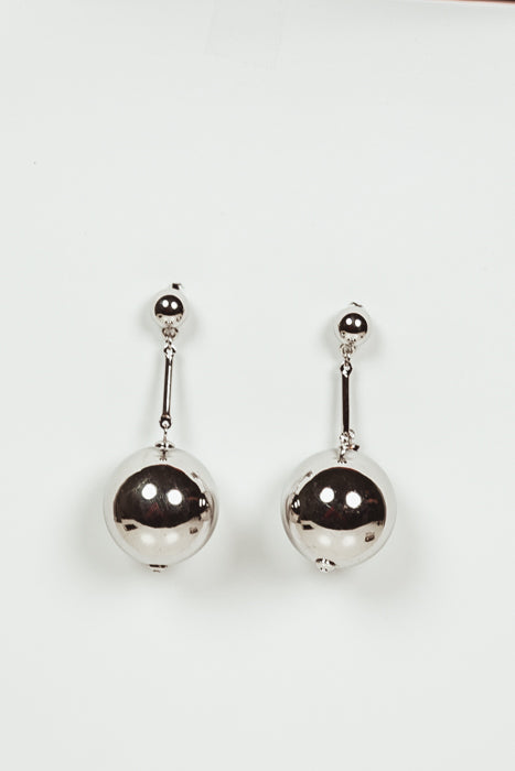 Dangle Ball Earring - Silver