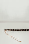 Coco Metal Chain Belt with Fabric - Black