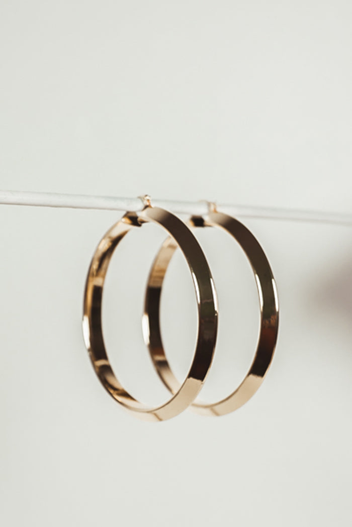 Half Moon Metal Hoop Earrings